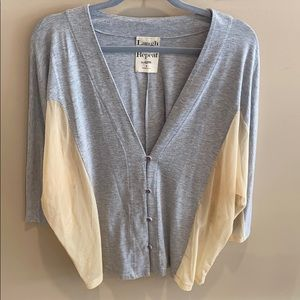 Laugh Cry Repeat by AZFN Gray/Beige Cardigan Sz S